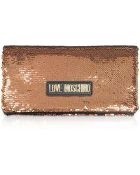 Love Moschino Bronze Sequins Pouch - Multicolour