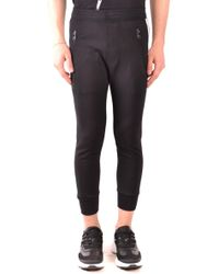 Neil Barrett Multicolour Synthetic Fibres Sweatpants - Black