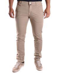 Pt05 Beige Cotton Jeans - Natural
