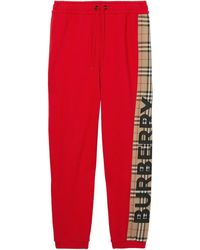 Burberry BAUMWOLLE JOGGERS - Rot