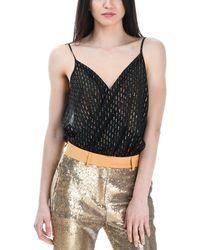 L'Autre Chose Black Silk Bodysuit