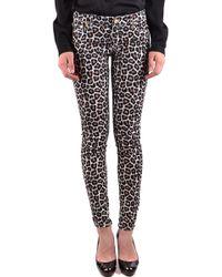 Michael Kors Multicolor Cotton Jeans - Black
