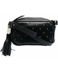RED Valentino Leather Shoulder Bag - Black