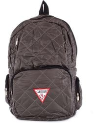 Guess Grey Polyester Backpack - Gray