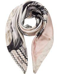Marina D'este - Pink Silk Foulard - Lyst