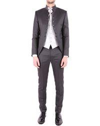 Carlo Pignatelli Grey Acetate Suit - Gray