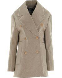 Jacquemus Cashmere Coat - Natural