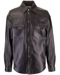 Gucci Leather Shirt - Black