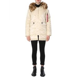 Alpha Industries Polyamide Outerwear Jacket - Natural