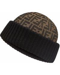 Fendi Mütze mit FF - Braun