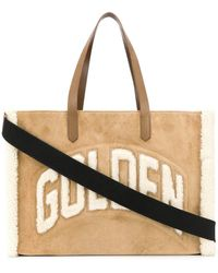 Golden Goose Deluxe Brand Leather Tote - Natural