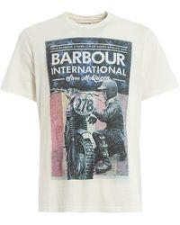 Barbour WEISS BAUMWOLLE T-SHIRT - Weiß
