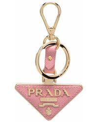 Prada 1pp128053f0442 leder schlüsselanhänger - Pink