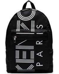 KENZO Logo Print Backpack - Black