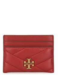 Tory Burch Card Holder With Logo - Red