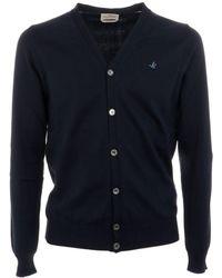 Brooksfield Blue Cotton Cardigan