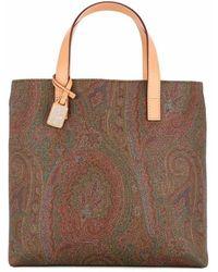 Etro Cotton Handbag - Brown