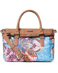 Desigual Light Blue Polyurethane Handbag