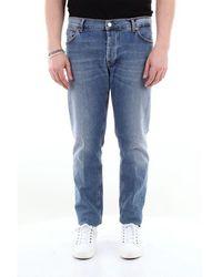 Aglini 5-pocket jeans aus stretch-baumwolle - Blau