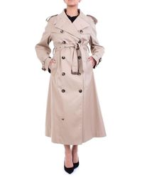 Maison Margiela Double-breasted Trench Coat - Natural