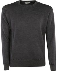 Ballantyne - Grey Cashmere Sweatshirt - Lyst