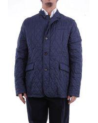 Moorer Shamys3blupacifico polyamid trench coat - Blau