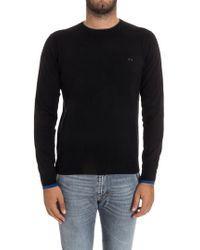 Sun 68 - Black Cotton Sweater - Lyst
