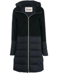 Herno Black Wool Down Jacket