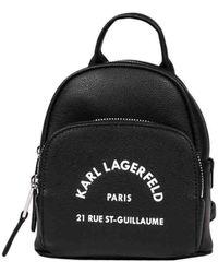 Karl Lagerfeld Leather Backpack - Black