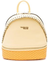 Trussardi Yellow Leather Backpack