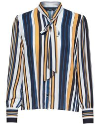ONLY Multicolor Polyester Shirt - Blue
