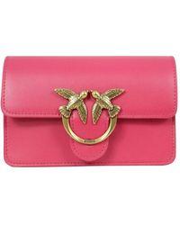 Pinko O Fuchsia Other Materials Belt Bag - Pink