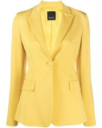 Pinko Single-breasted Blazer - Yellow