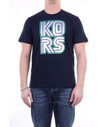 Michael Kors - Micheal kors nachtblaues t-shirt - Lyst
