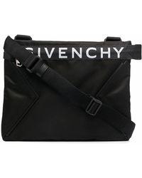 Givenchy Kuriertasche mit Logo-Print - Schwarz