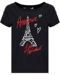 Love Moschino W4f302me2264c74 andere materialien t-shirt - Schwarz