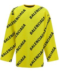 Balenciaga ANDERE MATERIALIEN SWEATER - Gelb