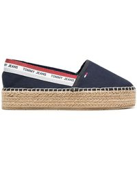 Tommy Hilfiger Cotton Espadrilles - Blue