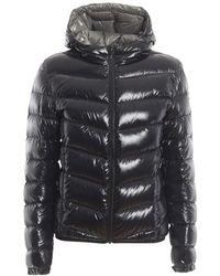 Colmar Glossy Black Hooded Puffer Jacket