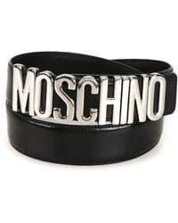 Moschino Black Leather Belt