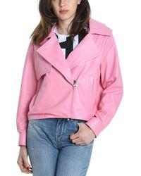 Betta Corradi Pink Leather Outerwear Jacket