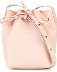 Mansur Gavriel Pink Leather Shoulder Bag