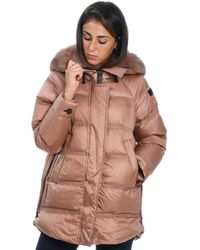 Peuterey Bronze Polyester Down Jacket - Brown