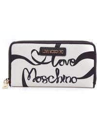 Love Moschino ANDERE MATERIALIEN BRIEFTASCHEN - Weiß