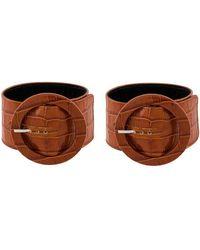 Attico - Brown Leather Bracelet - Lyst