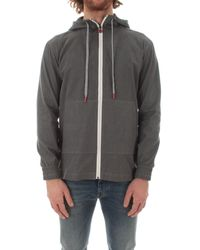 Kiton Umc010h0762402005 baumwolle sweatshirt - Grau