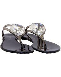 Casadei Pvc Flip Flops - Black