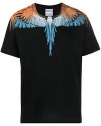 Marcelo Burlon T-Shirt mit Flügel-Print - Schwarz