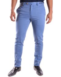PT01 Blue Cotton Trousers