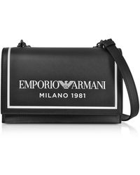 Emporio Armani Black Leather Shoulder Bag